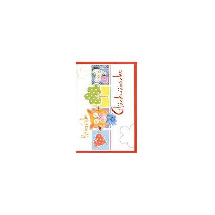 HORN Glückwunschkarte - Allgemein - Herzrapport -