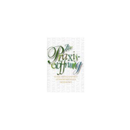 HORN Glückwunschkarte - Geschäftseröffnung- Geprägte Schrift