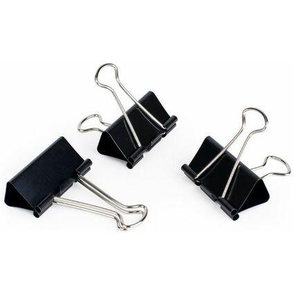 pavo Foldback-Klammer, (B)19 mm, Klemmweite 7 mm, schwarz
