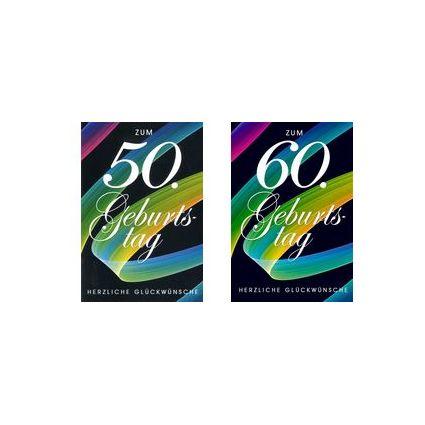 HORN Geburtstagskarte - Pinselstrich - 70.Geburtstag