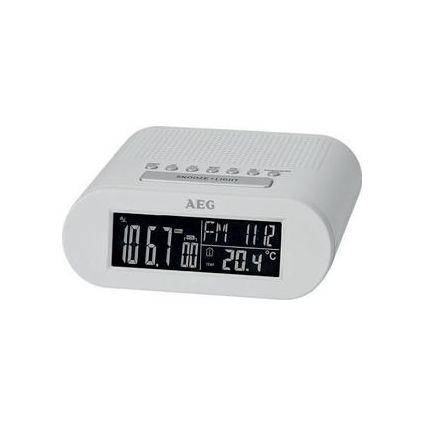 AEG UKW Funk-Uhrenradio MRC 4145 F, LED-Anzeige, weiß