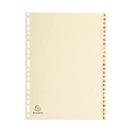 EXACOMPTA Karton-Register, A-Z, A4, 26-teilig