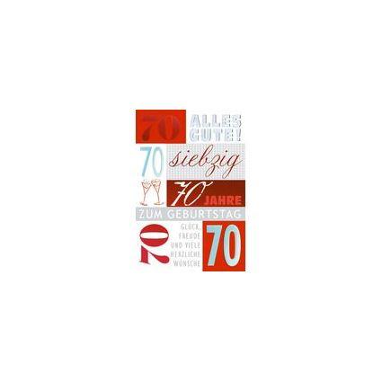 HORN Geburtstagskarte - Schriftgestaltung - 80.Geburtstag