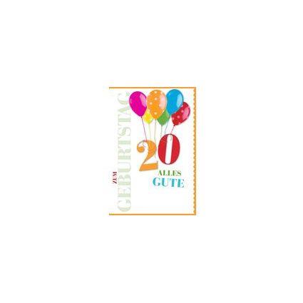 HORN Geburtstagskarte - Farbiger Luftballon - 85.Geburtstag