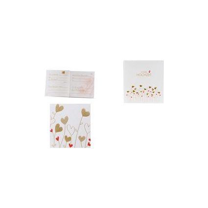 """goldbuch Hochzeitsalbum """"Golden Hearts"""", 60 Seiten"""