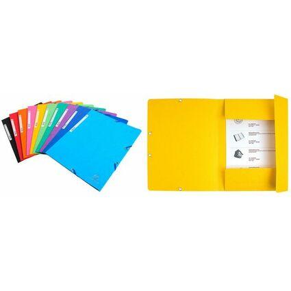EXACOMPTA Eckspannermappe, DIN A4, Karton 400 g/qm, gelb