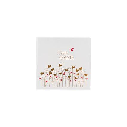 """goldbuch Gästebuch """"Golden Hearts"""", 176 Seiten, 250 x 235 mm"""