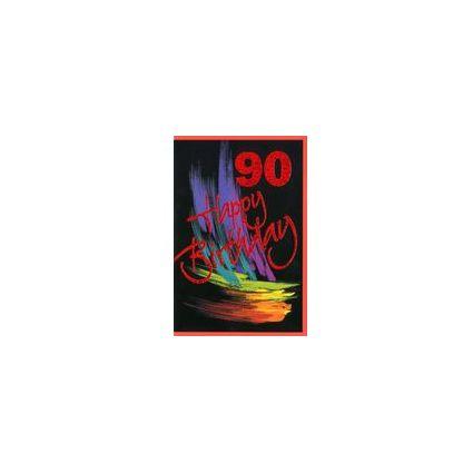 HORN Geburtstagskarte - Rote Zahl -  90.Geburtstag