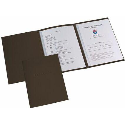 ELBA Bewerbungsmappe Metallic, Karton 320 g/qm, schwarz