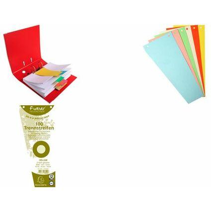 EXACOMPTA Trennstreifen, trapezförmig, Karton, farbig-