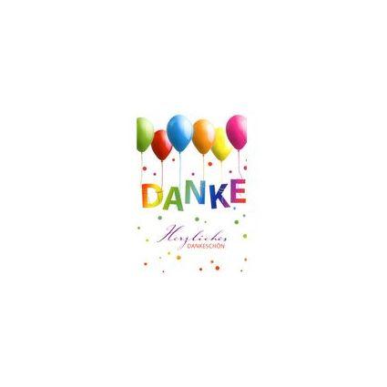 HORN Danksagungskarte - Luftballons -