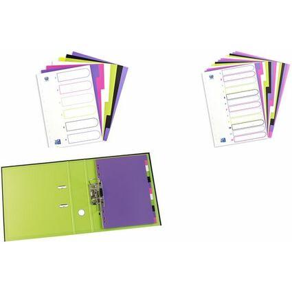 ELBA Kunststoff-Register myColour, DIN A4, 5-teilig, blanko