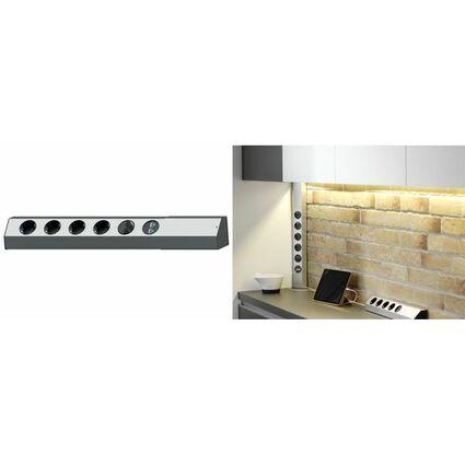 BACHMANN Steckdosenleiste CASIA, 4-fach, USB-Charger