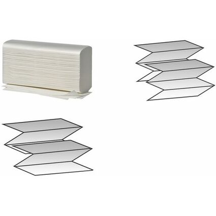 Fripa Handtuchpapier, 235 x 320 mm, W-Falz, hochweiß