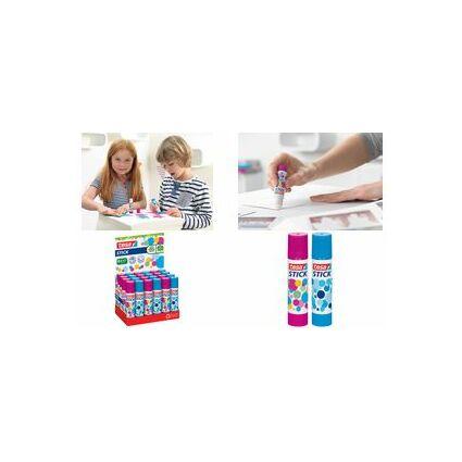 tesa ecoLogo Stick Klebestift, pink&blau, 10 g,Thekendisplay