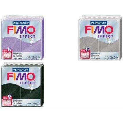 FIMO EFFECT Modelliermasse, ofenhärtend, lichtsilber, 57 g
