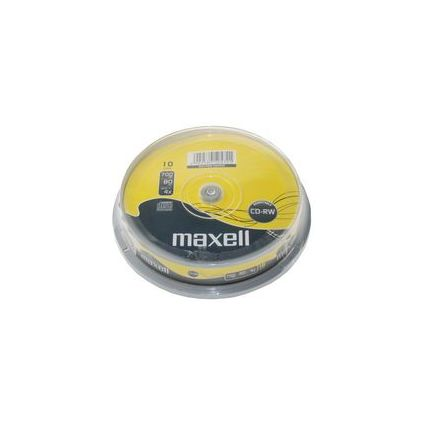 maxell CD-RW, 80 Minuten, 700 MB, 4X - 12X, 10er Spindel