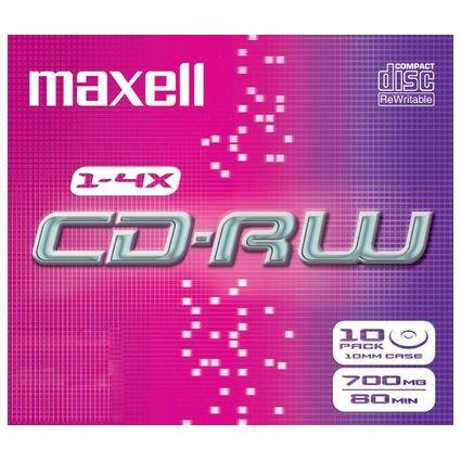 maxell CD-RW, 80 Minuten, 700 MB, 1-4x, Jewel Case
