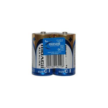 maxell Alkaline Batterie, Baby C, 2 Pack Shrink