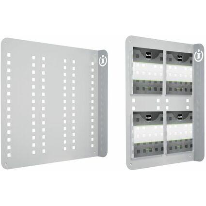 helit Wand-Prospekthalter / Info Wand Display, lichtgrau
