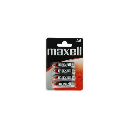 maxell Zink Batterie, Mignon AA, 4er Blister