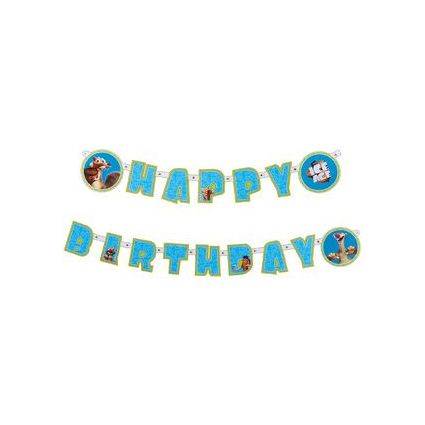 "SUSY CARD Girlanden-Kette ""Happy Birthday - Ice Age"""