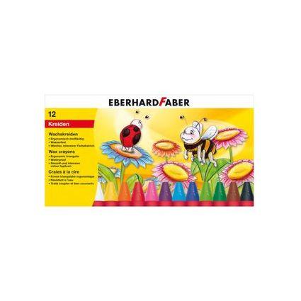 EBERHARD FABER Dreikant-Wachsmalkreide, 12er Kartonetui