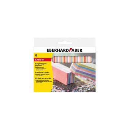EBERHARD FABER Straßenmalkreide Regenbogen, 6er Kartonetui