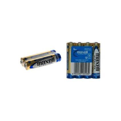maxell Alkaline Batterie, Micro AAA, 4 Pack Shrink