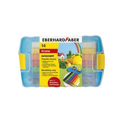 EBERHARD FABER Plastilin-Knete, 10er Kunststoffetui