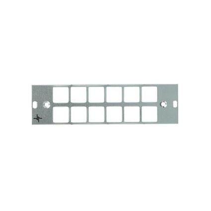 Telegärtner LWL-Blindfrontplatte 3HE / 7TE, eloxiert