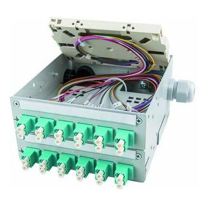 Telegärtner STX-Tragschienen-Verteiler, 12 x ST-Duplex