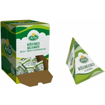 Arla Milch-Portion 1,5% Fett, im Displaykarton