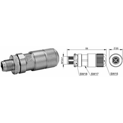 Telegärtner STX-Steckverbinder M12x1 KS X-kodiert