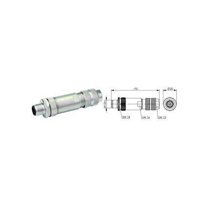 Telegärtner STX-Steckverbinder M12x1 KS D-kodiert