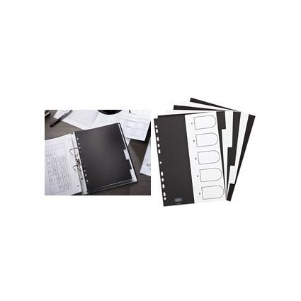 ELBA Kunststoff-Register Piano, DIN A4, 12-teilig, blanko