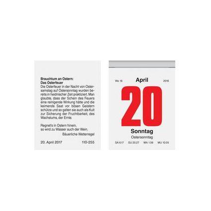 "Glocken Wandkalender ""Tages-Abreißkalender Nr.2"", 2017"