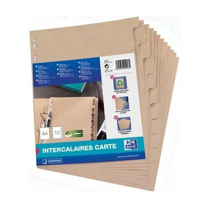 ELBA Karton-Register TOUAREG, blanko, DIN A4, 12-teilig