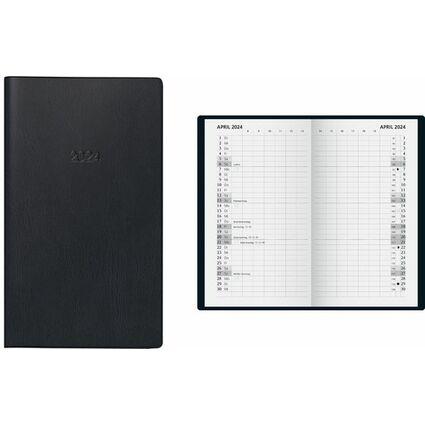 """Glocken Taschenkalender """"Monatssichtkalender"""", 2017, schwarz"""