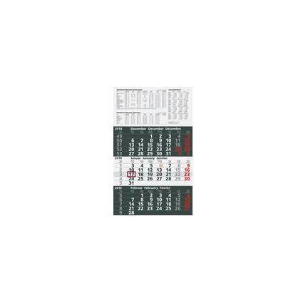 "Glocken Wandkalender ""3-Monats-Kalender"", 2017, anthrazit"