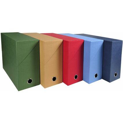 EXACOMPTA Dokumentenmappe, DIN A4, Karton, rot