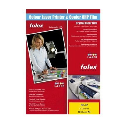 FOLEX Color-Laserfolie BG-72, DIN A4, transparent