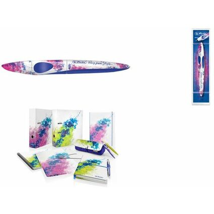 herlitz Tintenroller my.pen style Color Splash, blau/pink