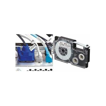 CASIO XR Schriftbandkassette, schwarz auf weiß, 9 mm / 5,5 m