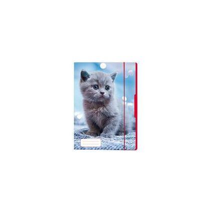 herlitz Zeichnungsmappe/Sammelmappe DIN A4, Motiv: Katze