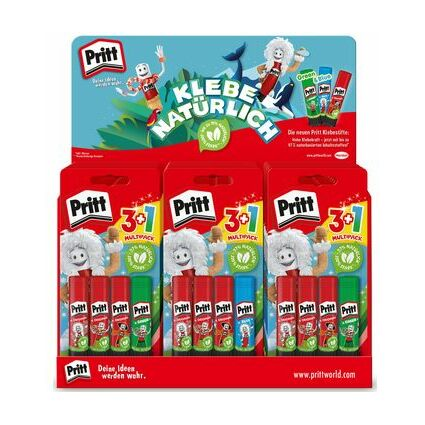 Pritt Design-Klebestift, 2 x 22 g + 1 x 20 g, 30er Display