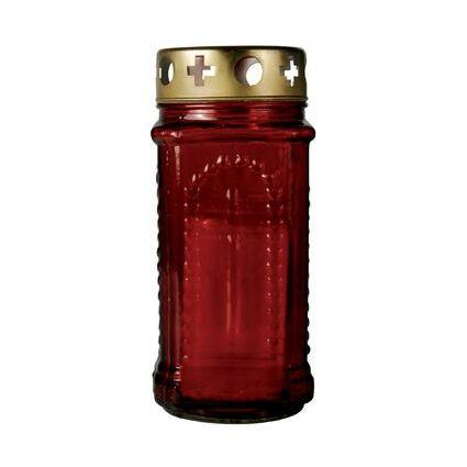 PAPSTAR Grablaterne aus Glas, Durchmesser: 110 mm, rot