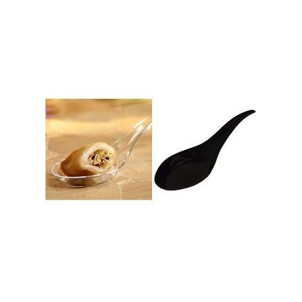 PAPSTAR Fingerfood-Asia-Löffel, 120 mm, schwarz