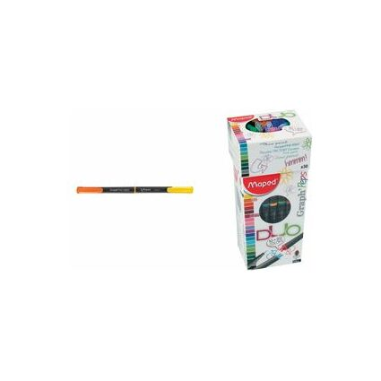 "Maped Fineliner Graph""Peps DUO, 30er Kartonetui / 20 Farben"