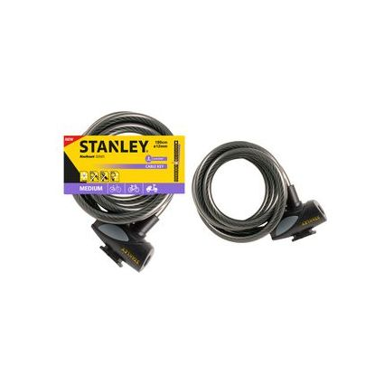 "STANLEY Kabel-Fahrradschloss ""CABLE-KEY"", Länge: 1.800 mm"